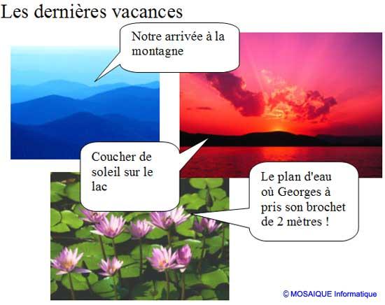 Une page de votre album photo - Word - MOSAIQUE Informatique - Tutoriels en ligne, formation informatique, bureautique, infographie, création de sites Internet - 54 - Nancy - Meurthe et Moselle - Lorraine