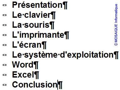 La première version de la notice - Word - MOSAIQUE Informatique - Tutoriels en ligne, formation informatique, bureautique, infographie, création de sites Internet - 54 - Nancy - Meurthe et Moselle - Lorraine