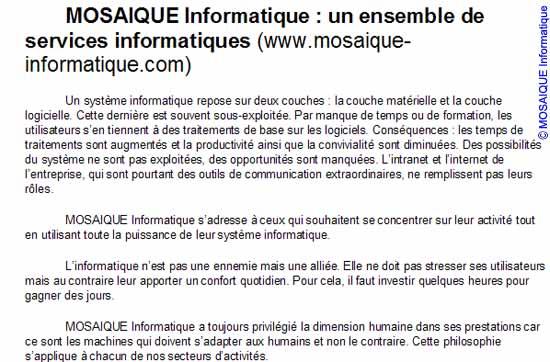 La composition à la française... - Word - MOSAIQUE Informatique - Tutoriels en ligne, formation informatique, bureautique, infographie, création de sites Internet - 54 - Nancy - Meurthe et Moselle - Lorraine