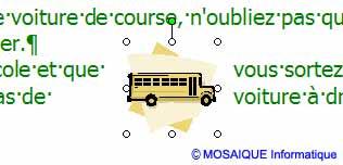 L'habillage rapproché - Word - MOSAIQUE Informatique - Tutoriels en ligne, formation informatique, bureautique, infographie, création de sites Internet - 54 - Nancy - Meurthe et Moselle - Lorraine