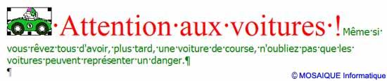 La mise en forme du texte - Word - MOSAIQUE Informatique - Tutoriels en ligne, formation informatique, bureautique, infographie, création de sites Internet - 54 - Nancy - Meurthe et Moselle - Lorraine