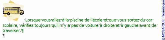 La seconde image et son texte d'accompagnement - Word - MOSAIQUE Informatique - Tutoriels en ligne, formation informatique, bureautique, infographie, création de sites Internet - 54 - Nancy - Meurthe et Moselle - Lorraine