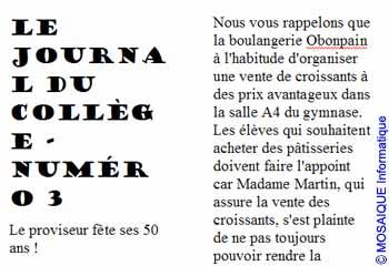 Le document utilise pour l'instant deux colonne - Word - MOSAIQUE Informatique - Tutoriels en ligne, formation informatique, bureautique, infographie, création de sites Internet - 54 - Nancy - Meurthe et Moselle - Lorraine