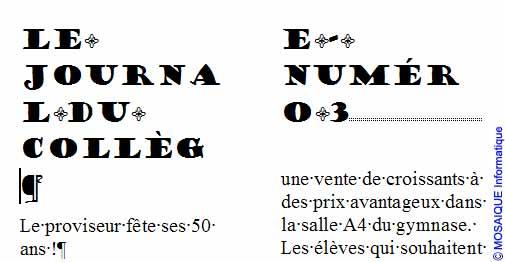 Le document, après l'insertion du saut de section - Word - MOSAIQUE Informatique - Tutoriels en ligne, formation informatique, bureautique, infographie, création de sites Internet - 54 - Nancy - Meurthe et Moselle - Lorraine