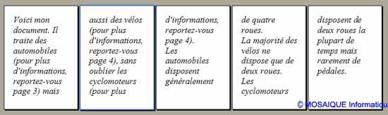 Les renvois aux pages s'effectuent correctement - Word - MOSAIQUE Informatique - Tutoriels en ligne, formation informatique, bureautique, infographie, création de sites Internet - 54 - Nancy - Meurthe et Moselle - Lorraine