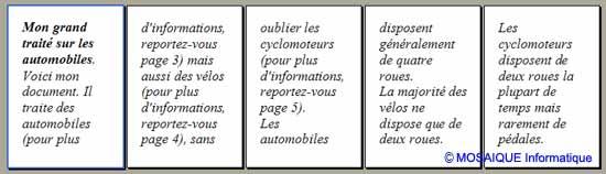 Les signets sont mis à jour - Word - MOSAIQUE Informatique - Tutoriels en ligne, formation informatique, bureautique, infographie, création de sites Internet - 54 - Nancy - Meurthe et Moselle - Lorraine
