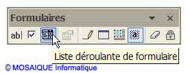Le bouton Liste déroulante de formulaire - Word - MOSAIQUE Informatique - France - Lorraine - Meurthe et Moselle - 54 - Nancy