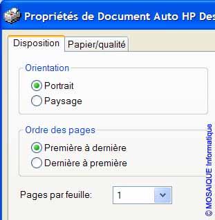 L'onglet Disposition de la boîte de dialogue Propriétés de Document - Word - MOSAIQUE Informatique - Lorraine - Meurthe et Moselle - 54 - Nancy