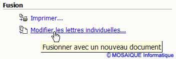 Le lien Modifier les lettres individuelles - Word - Formation informatique - Lorraine - Meurthe et Moselle - 54 - Nancy - MOSAIQUE Informatique