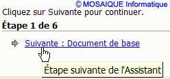 Le passage à l'étape suivante de l'assistant - Word - MOSAIQUE Informatique - Lorraine - Meurthe et Moselle - 54 - Nancy