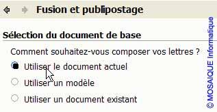 La sélection du document de base - Word - MOSAIQUE Informatique - Lorraine - Meurthe et Moselle - 54 - Nancy