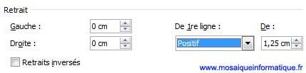 Les paramètres permettant d'obtenir une présentation en identation sur les paragraphes sous Word 2007 - MOSAIQUE Informatique - Nancy - www.mosaiqueinformatique.fr