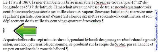 Un paragraphe vide est créé sous Word 2007 - MOSAIQUE Informatique - Nancy - www.mosaiqueinformatique.fr