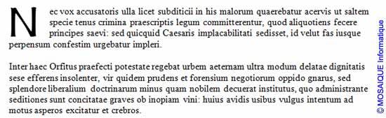 Word 2007 - La lettrine, après son insertion dans le texte
