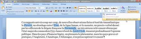 La sélection de zones de texte ayant une mise en forme semblable sous Word 2007 - MOSAIQUE Informatique - Nancy - www.mosaique-informatique.fr