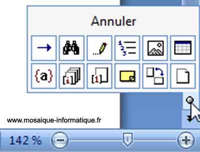 La zone Sélectionner l'objet parcouru de Word 2007 - MOSAIQUE Informatique - Nancy