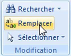Le bouton Remplacer sous Word 2007 - MOSAIQUE Informatique - Nancy - www.mosaique-informatique.fr