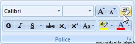 Le bouton Effacer la mise en forme sous Word 2007 - MOSAIQUE Informatique - Nancy