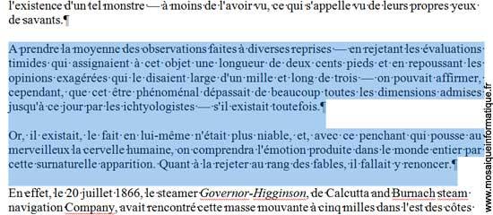 Les paragraphes justifiés dans le document sous Word 2007 - MOSAIQUE Informatique - Nancy - www.mosaiqueinformatique.fr