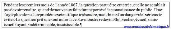 La bordure est appliquée au paragraphe sous Word 2007 - MOSAIQUE Informatique - Nancy - www.mosaiqueinformatique.fr