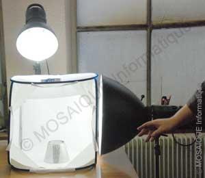 Formation photo numérique - Nancy - 54 - Meurthe et Moselle - Lorraine - Macro photographie : montage d'une tente studio en lumière continue