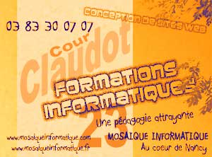 Formation Windows - MOSAIQUE Informatique - 54 - Nancy - Meurthe et Moselle - Lorraine