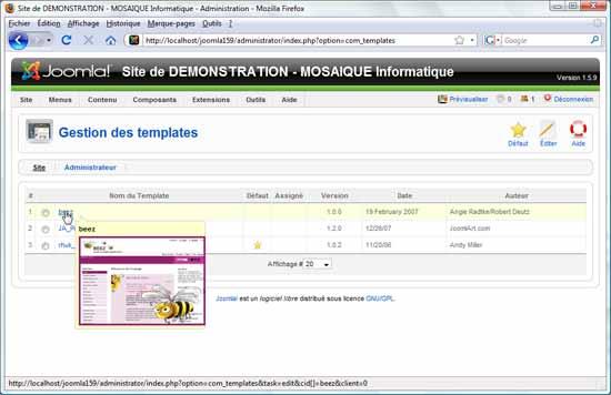 Découvrez les templates de Joomla lors de nos formations informatiques à Nancy (54)
