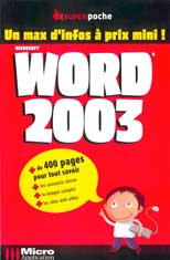 Word 2003 collection Super Poche - MOSAIQUE Informatique - 54 - Nancy